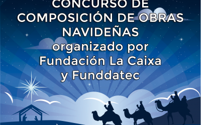 """Fundación """"la Caixa"""", CaixaBank y Funddatec promueven el primer concurso de composición de villancicos y marchas navideñas."""